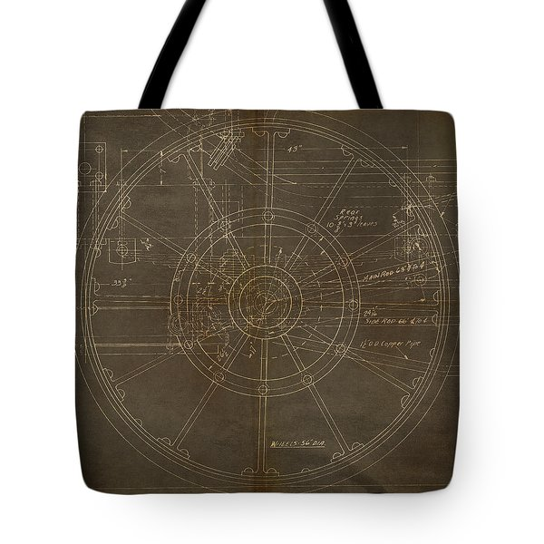 Locomotive Wheel Tote Bag by James Christopher Hill