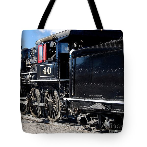 Tote Bag featuring the photograph Locomotive With Tender by Gunter Nezhoda