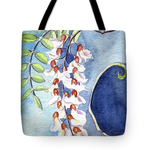 Locust Bloom Tote Bag by Katherine Miller
