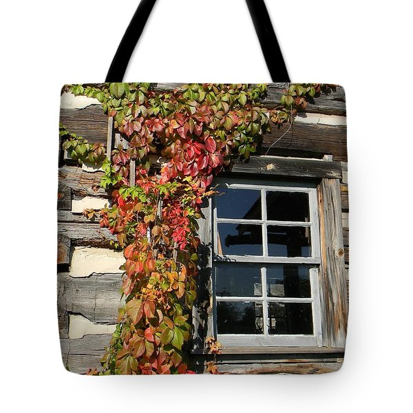 Log Cabin Ivy Tote Bag by Jean Goodwin Brooks