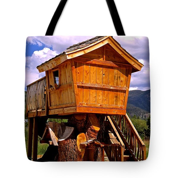 Log Cabin Penthouse Tote Bag