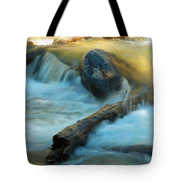 Log In A Stream Tote Bag
