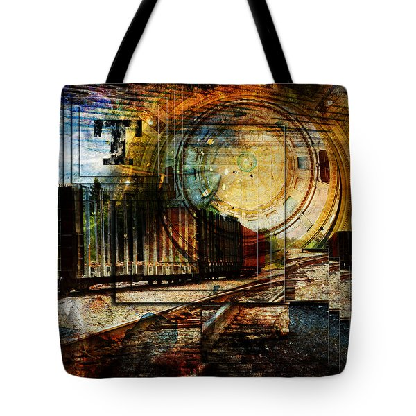 Log Train Trout Lake Michigan Tote Bag by Evie Carrier