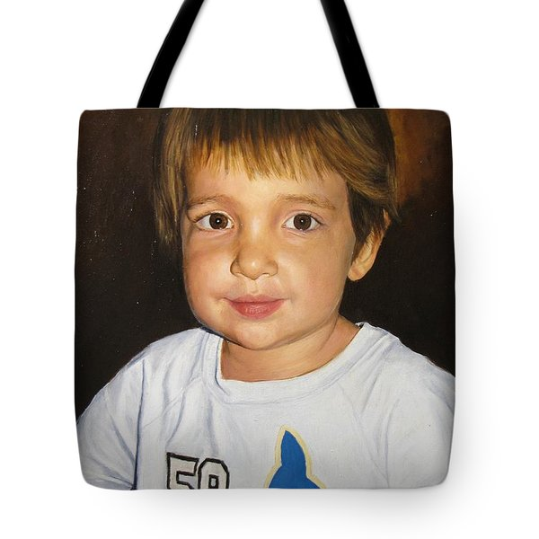 Tote Bag featuring the painting Logan by Glenn Beasley