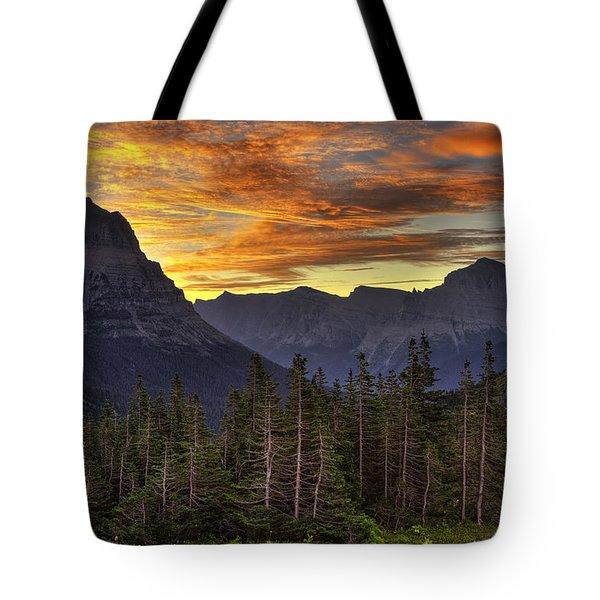 Logan Pass Sunrise Tote Bag