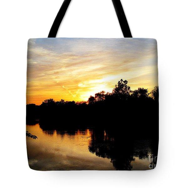 Logan Street Sunset Two Tote Bag by Tina M Wenger