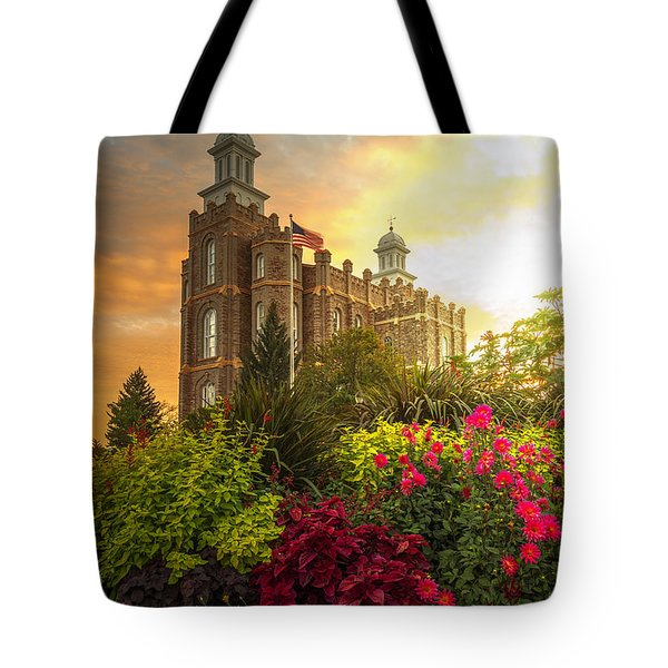 Logan Temple Garden Tote Bag