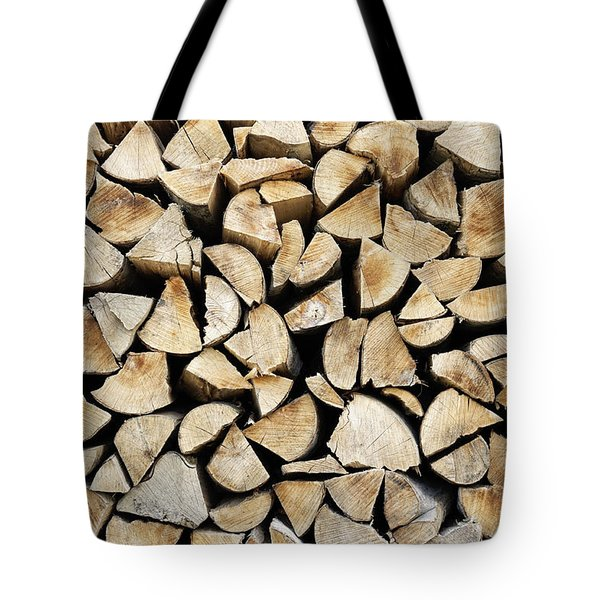 Logs Background Tote Bag