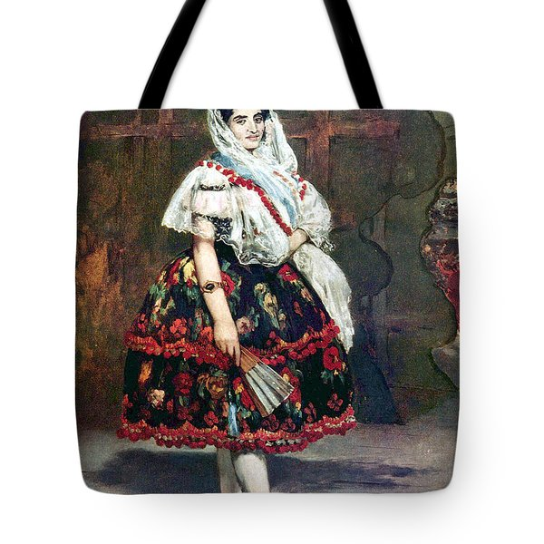 Lola Of Valencia Tote Bag by Edouard Manet