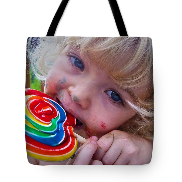 Tote Bag featuring the photograph Lollipop Bliss by Lanita Williams