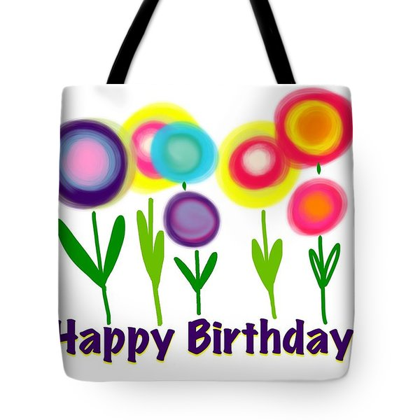 Tote Bag featuring the digital art Lollipop Flowers  by Christine Fournier