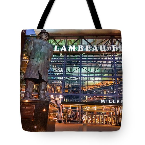 Lombardi At Lambeau Tote Bag by Bill Pevlor