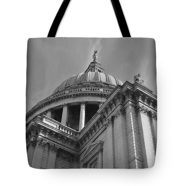 London St Pauls Cathedral Tote Bag by Cheryl Miller