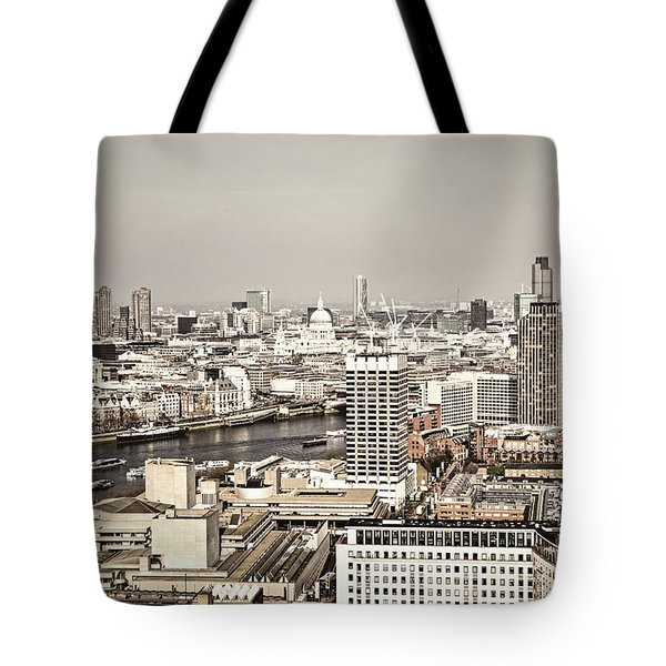 London Cityscape Tote Bag by Elena Elisseeva
