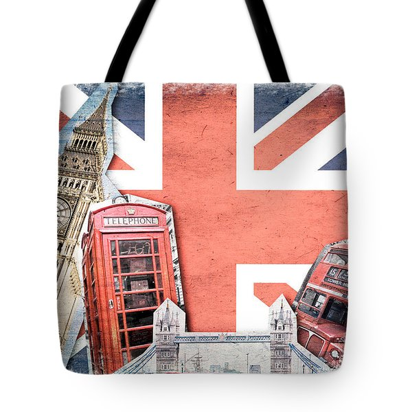 London Collage Tote Bag