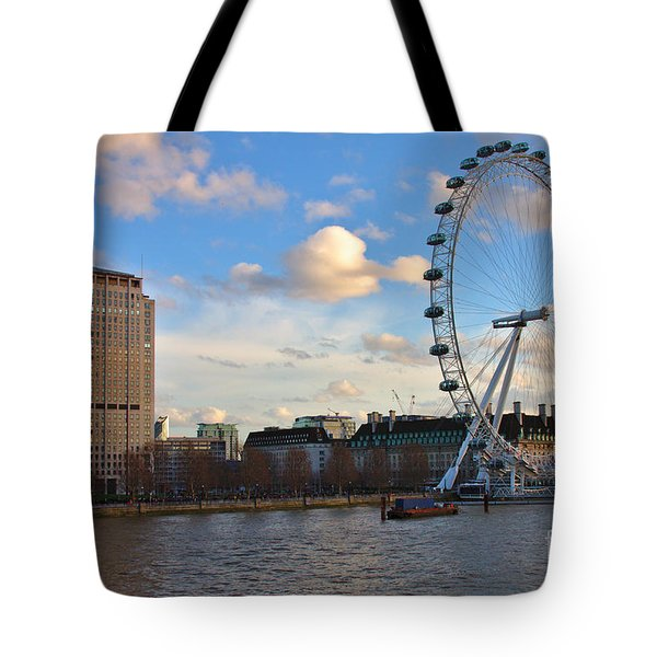 London Eye And Shell Building Tote Bag