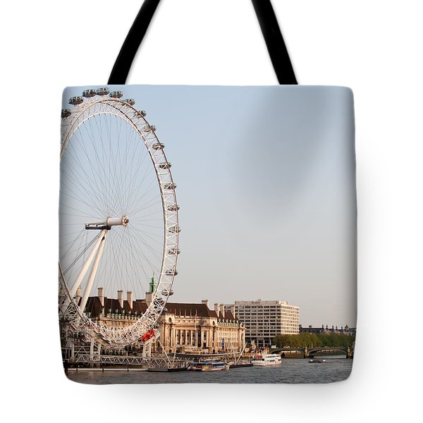 Tote Bag featuring the photograph London Eye Day by Matt Malloy