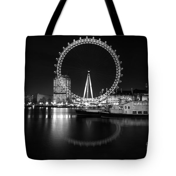 London Eye Mono Tote Bag by Matt Malloy