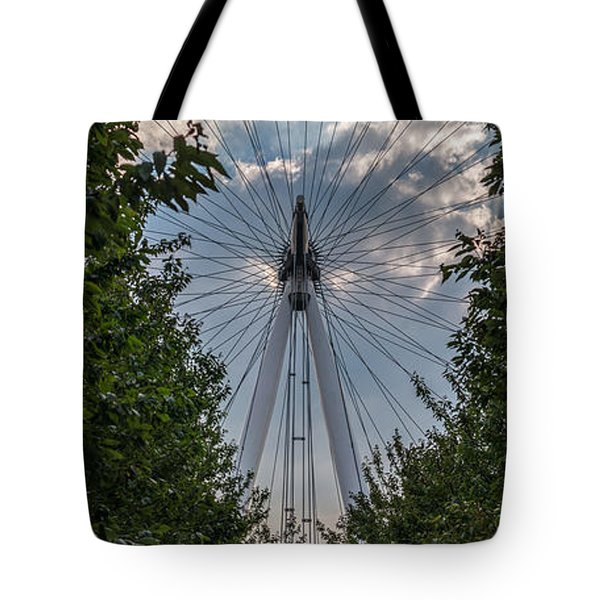 London Eye Vertical Panorama Tote Bag by Matt Malloy