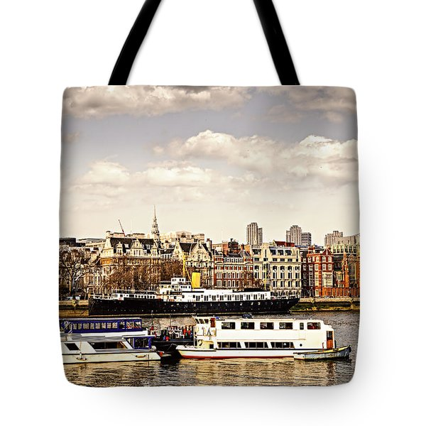 London From Thames River Tote Bag by Elena Elisseeva