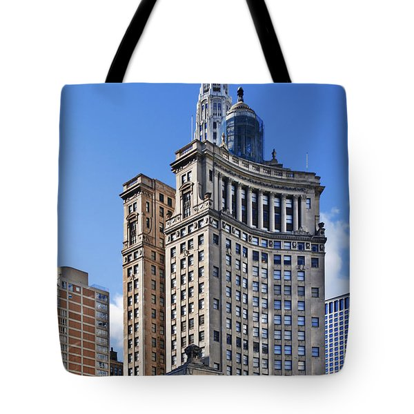 London Guarantee And Accident Building Chicago Tote Bag by Christine Till