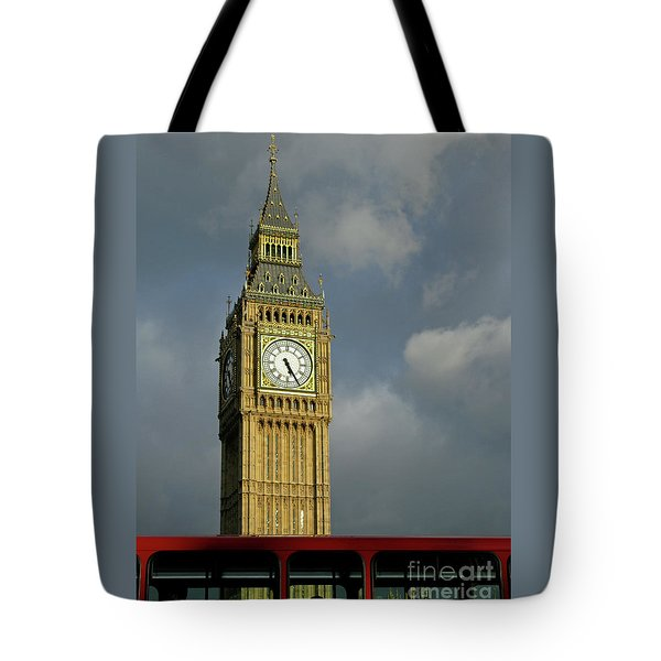 Tote Bag featuring the photograph London Icons by Ann Horn