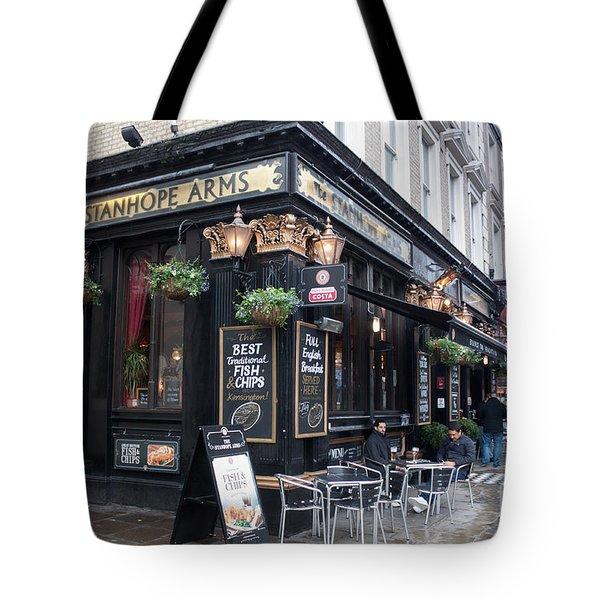London Pub Tote Bag by Thomas Marchessault