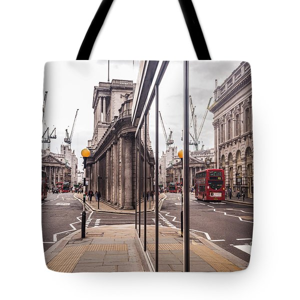 London Reflected Tote Bag by Matt Malloy