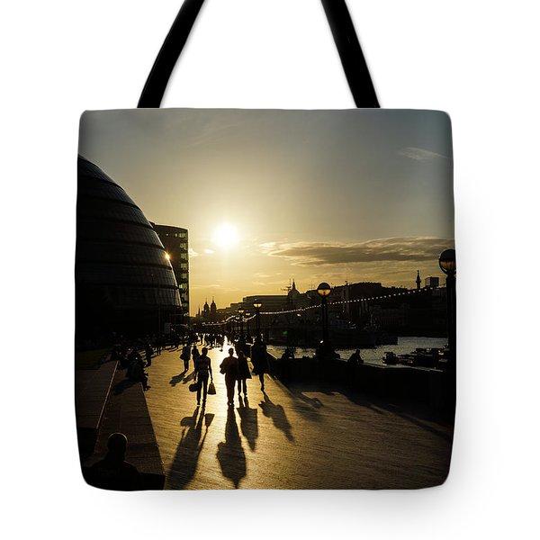 Tote Bag featuring the photograph London Silhouettes  by Georgia Mizuleva