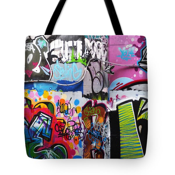 London Skate Park Abstract Tote Bag by Rona Black