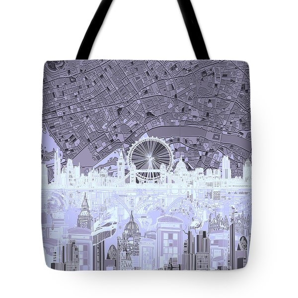 London Skyline Abstract 10 Tote Bag