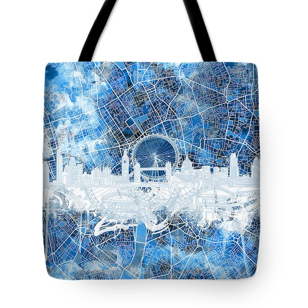 London Skyline Abstract 13 Tote Bag