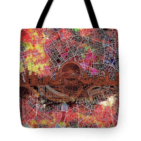 London Skyline Abstract 5 Tote Bag