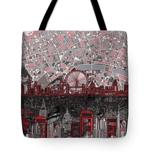 London Skyline Abstract 6 Tote Bag