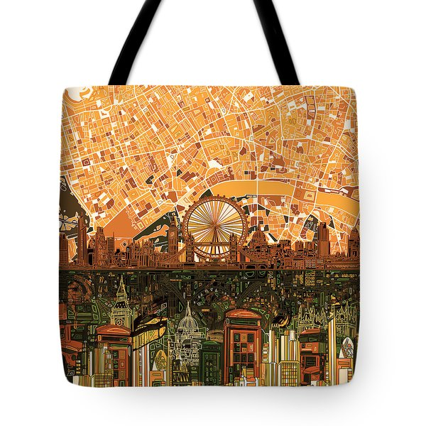 London Skyline Abstract 7 Tote Bag