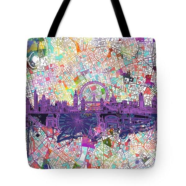 London Skyline Abstract Tote Bag