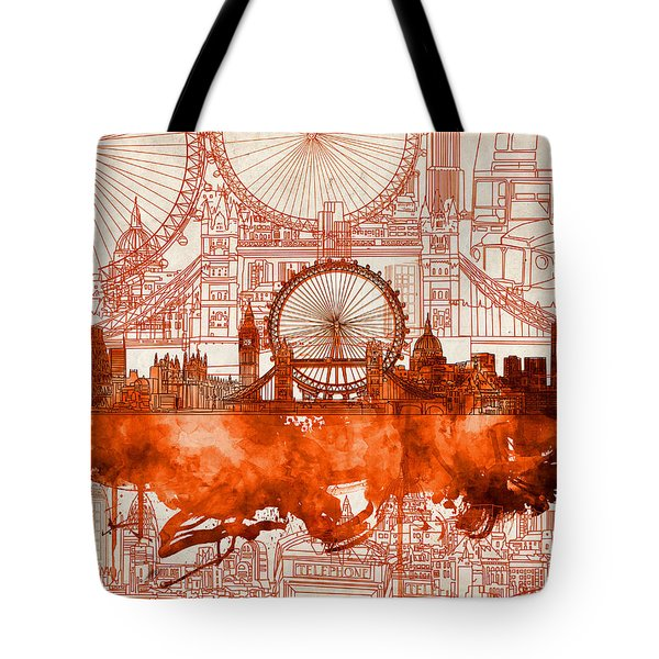 London Skyline Old Vintage 2 Tote Bag