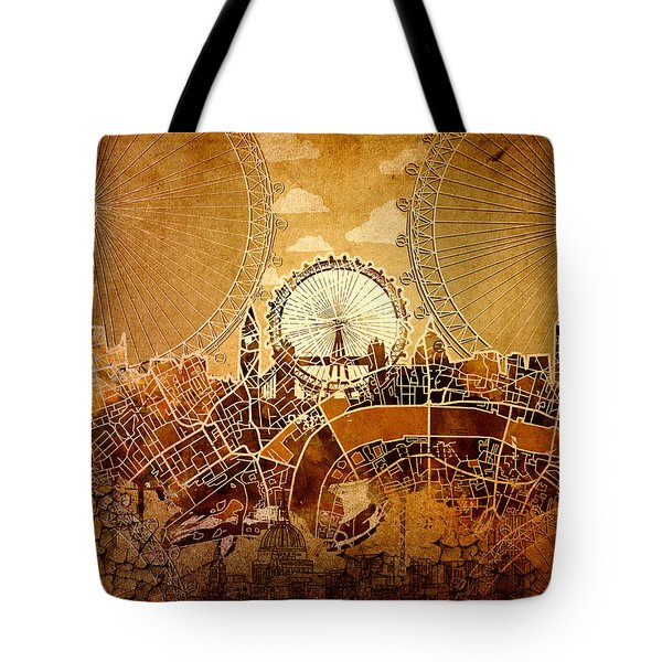 London Skyline Old Vintage  Tote Bag