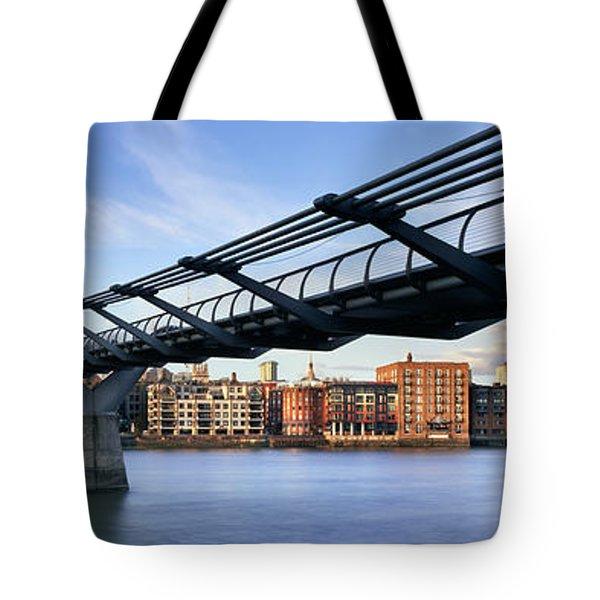 Millennium Bridge London 1 Tote Bag by Rod McLean