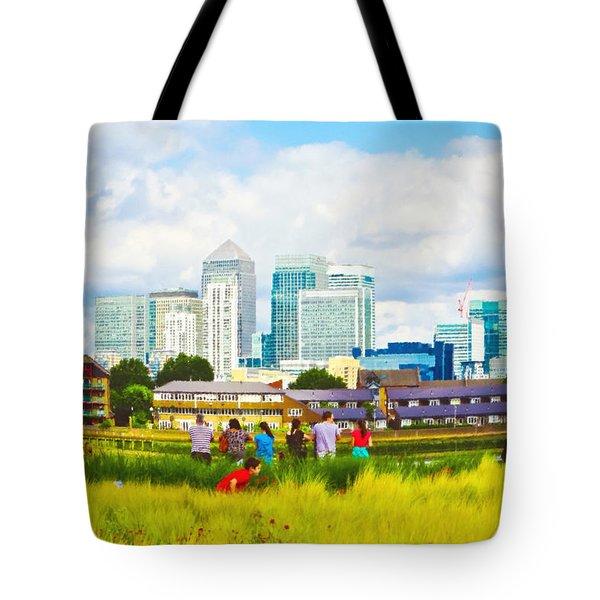 London Skyscrapers Tote Bag