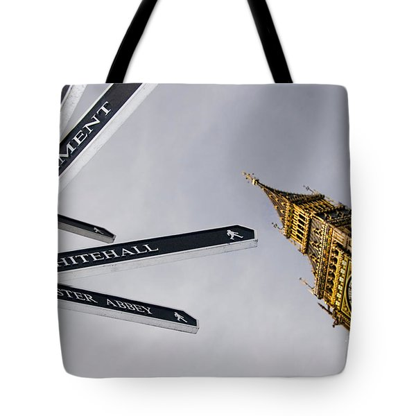 London Street Signs Tote Bag by David Smith