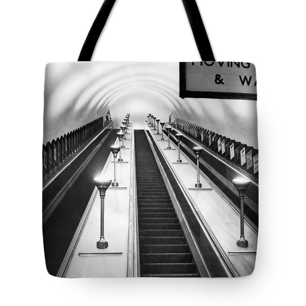 London Subway Escalators Tote Bag
