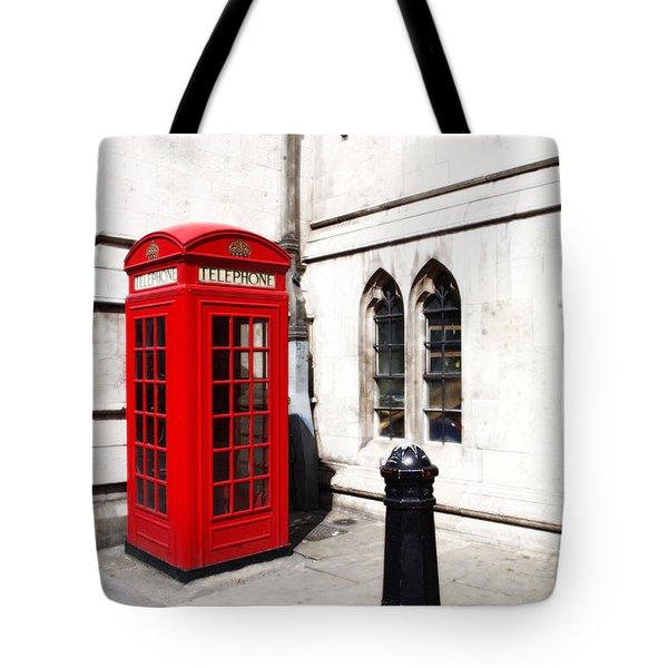 London Telephone Box Tote Bag