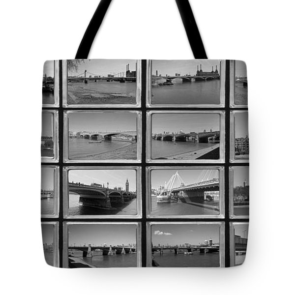 London Thames Bridges Tote Bag