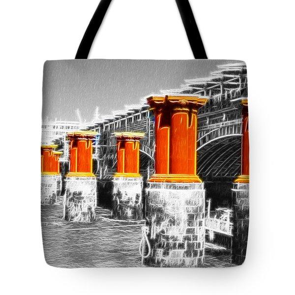 London Thames Bridges Fractals Tote Bag by David French