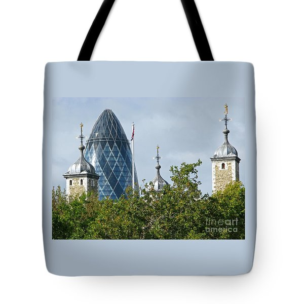 London Towers Tote Bag by Ann Horn