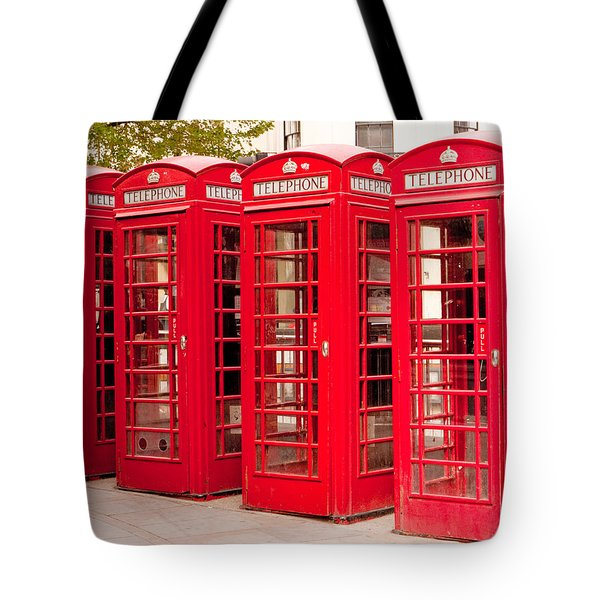 London's Red Phone Boxes Tote Bag