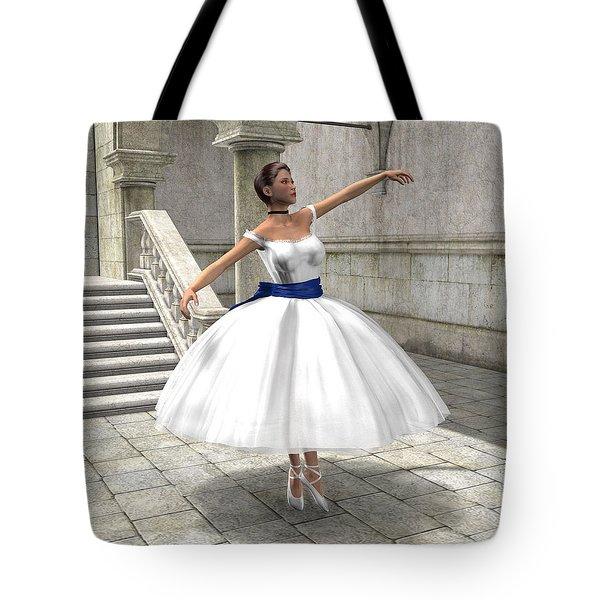 Lone Ballet Dancer Tote Bag