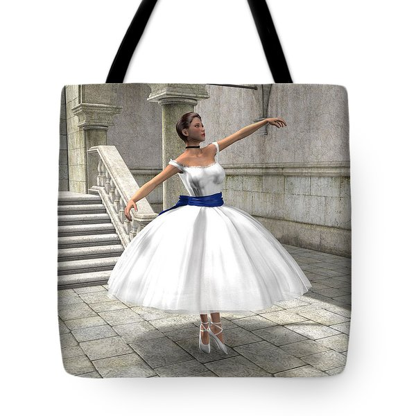 Lone Ballet Dancer Tote Bag