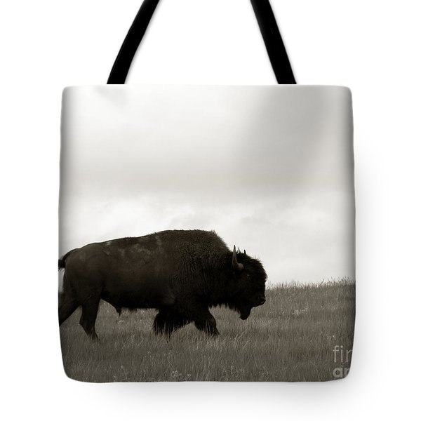 Lone Bison Tote Bag